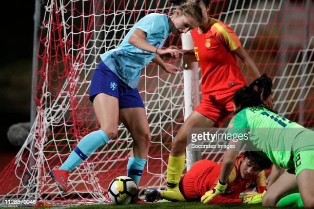 Vivianne Miedema of Holland Women during the Algarve Cup Women match between China PR v Holland at the Estadio Municipal de Albufeira on March 6,...