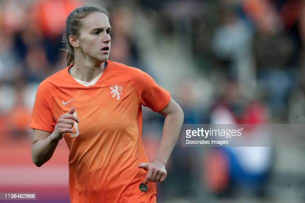 Vivianne Miedema of Holland Women during the International Friendly Women match between Holland v Chile at the AFAS Stadium on April 9 2019 in...