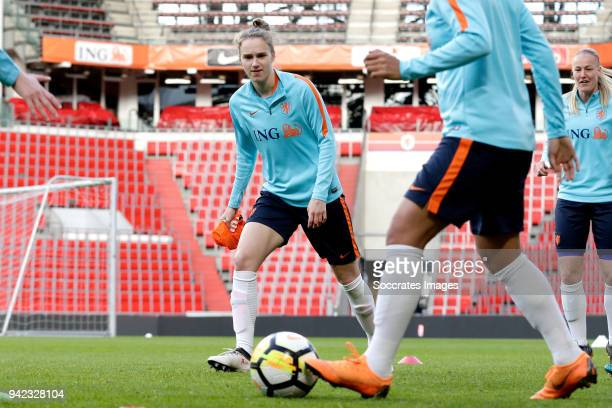 Vivianne Miedema of Holland Women during the Training Holland Women at the Philips Stadium on April 5 2018 in Eindhoven Netherlands