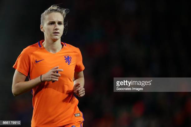 Vivianne Miedema of Holland Women during the World Cup Qualifier Women match between Holland v Norway at the Noordlease stadium on October 24 2017 in...