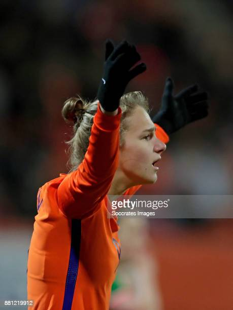 Vivianne Miedema of Holland Women during the World Cup Qualifier match between Holland v Republic of Ireland at the Goffert Stadium on November 28...