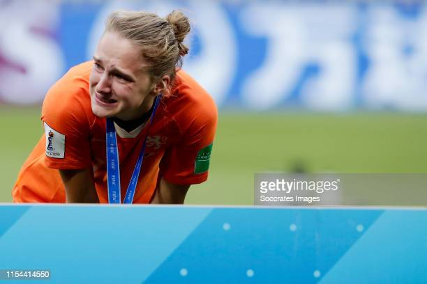 Vivianne Miedema of Holland Women during the World Cup Women match between USA v Holland at the Stade de Lyon on July 7 2019 in Lyon France