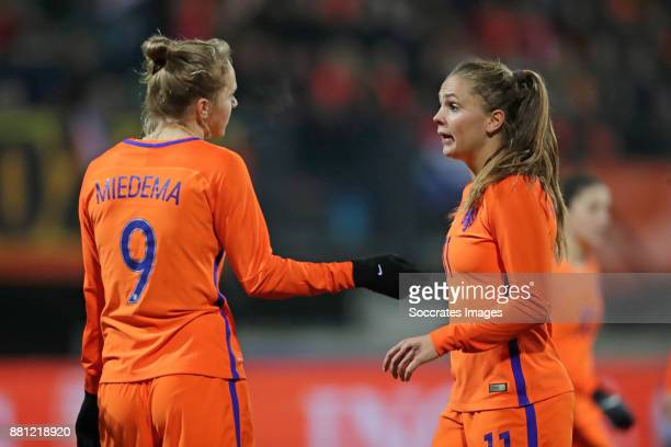Vivianne Miedema of Holland Women Lieke Martens of Holland Women during the World Cup Qualifier match between Holland v Republic of Ireland at the...
