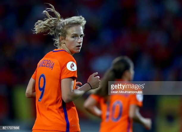 Vivianne Miedema of Netherlands reacts during the Group A match between Belgium and Netherlands during the UEFA Women's Euro 2017 at Koning Willem II...