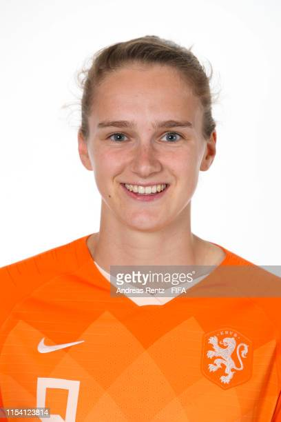 Vivianne Miedema of the Netherlands poses for a portrait during the official FIFA Women's World Cup 2019 portrait session at Hotel Novotel Le Havre...