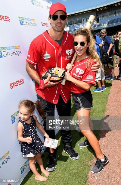 Vivianne Rose Decker, NFL wide reciever Eric Decker and singer-songwriter Jessie James Decker arrive at the 27th Annual City of Hope Celebrity...