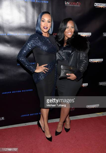 Vivica A Fox and Miko Branch attend the world premiere of Uncork'd Entertainment's Crossbreed at Ahrya Fine Arts Theater on February 05 2019 in...