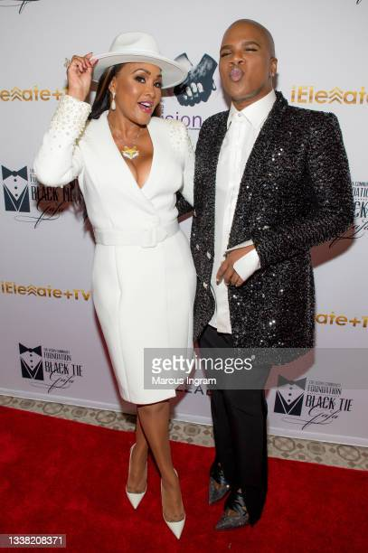 Vivica A. Fox and Miss Lawrence attend the Vision Community Foundation 2021 black tie gala at The Biltmore Ballrooms on September 03, 2021 in...