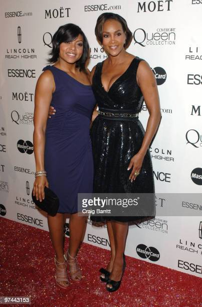 Vivica A Fox and Taraji P Henson arrive at the 3rd Annual Essence Black Women in Hollywood luncheon at the Beverly Hills Hotel on March 4 2010 in...