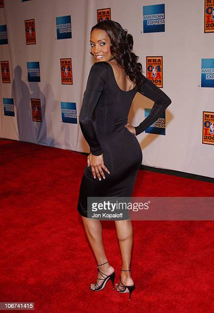 Vivica A Fox arriving at the Official TipOff to NBA AllStar 2004 Entertainment American Express Celebrates the Rewarding Life of Earvin Magic Johnson...