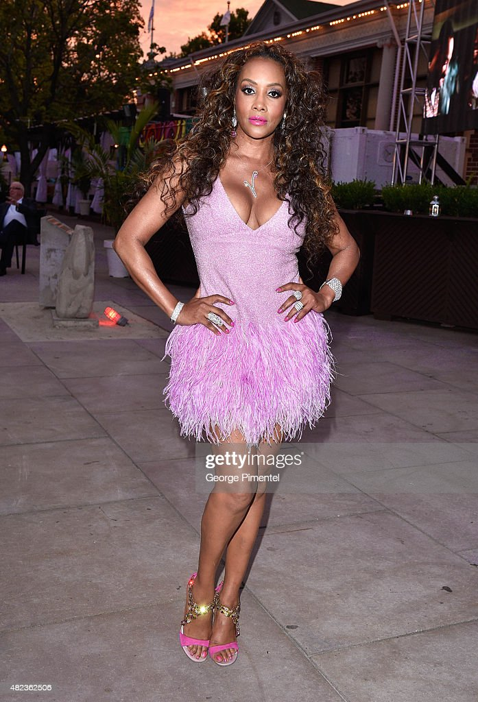 Vivica A. Fox attends her birthday celebration held at Muzik on July 29, 2015 in Toronto, Canada.