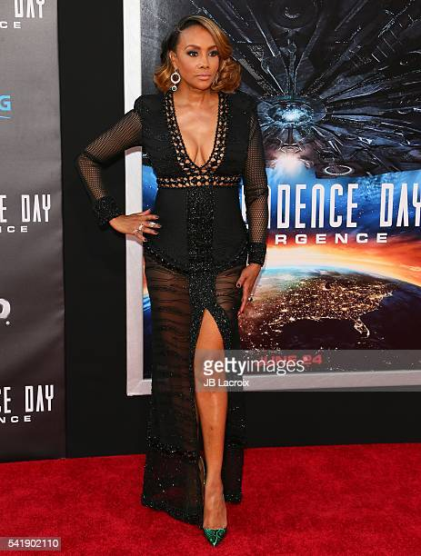 Vivica A Fox attends the premiere of 20th Century Fox's 'Independence Day Resurgence' at TCL Chinese Theatre on June 20 2016 in Hollywood California