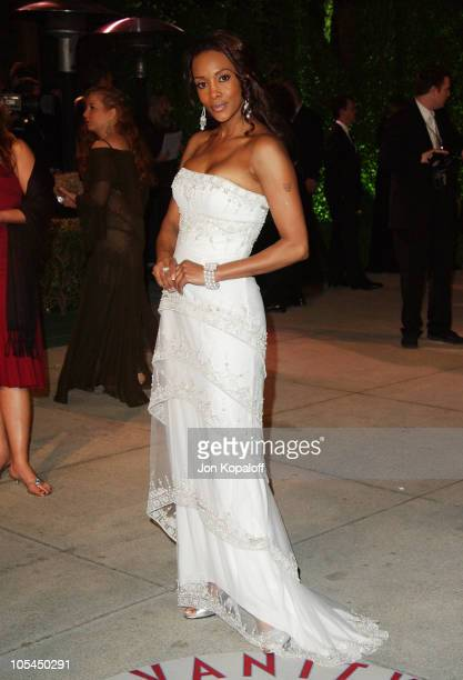 Vivica A Fox during 2005 Vanity Fair Oscar Party at Mortons in Los Angeles California United States