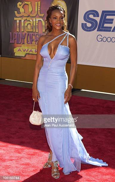 Vivica A Fox during 9th Annual Soul Train Lady of Soul Awards Arrivals at Pasadena Civic Center in Pasadena California United States