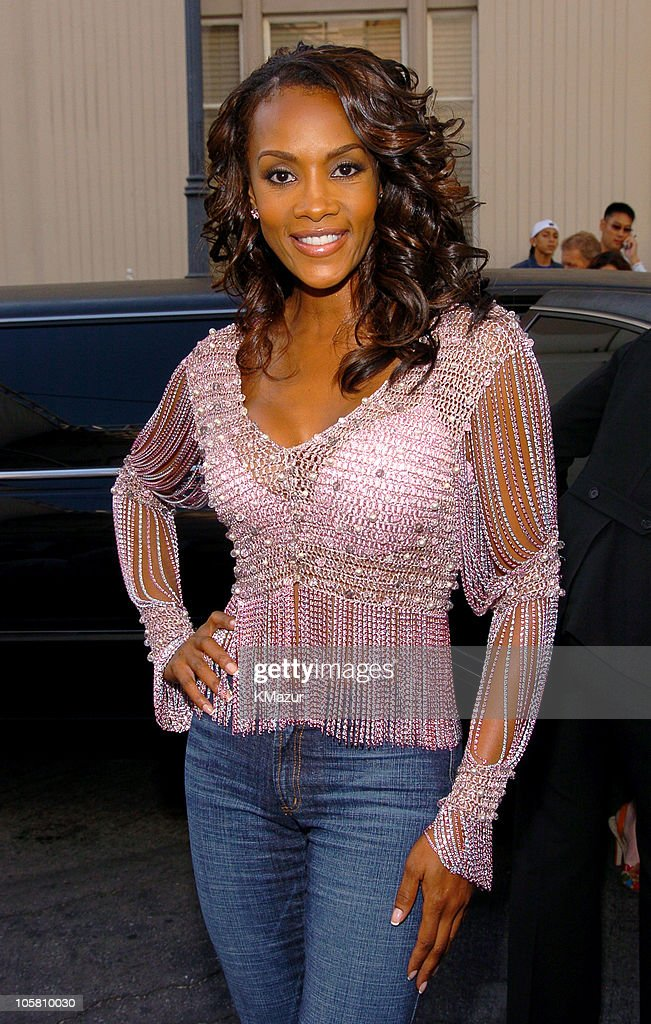 Vivica A. Fox during MTV Movie Awards 2004 - Backstage and Audience at Sony Pictures Studios in Culver City, California, United States.
