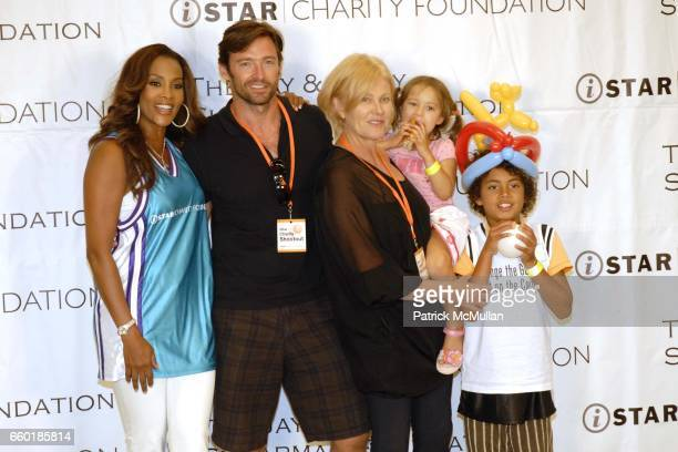 Vivica A Fox Hugh Jackman DeborraLee Furness Ava Jackman and Oscar Jackman attend Seventh Annual Istar Charity Shootout at Madison Square Garden on...