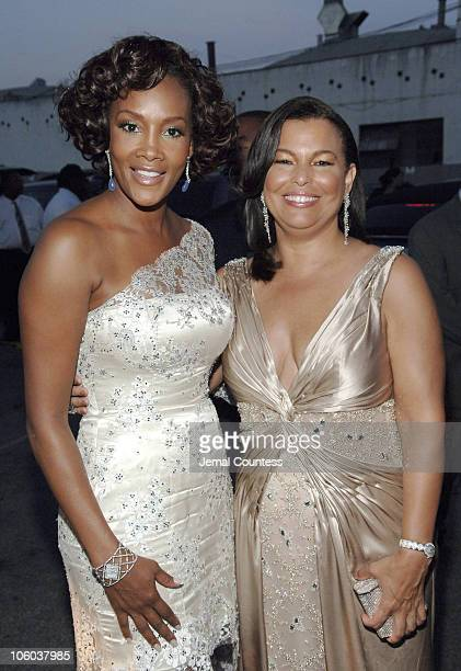 Vivica Fox and Debra L Lee President of BET during 6th Annual BET Awards Departures at Shrine Auditorium in Los Angeles California United States