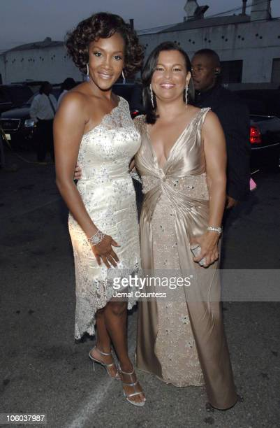 Vivica Fox and Debra L. Lee, President of BET during 6th Annual BET Awards - Departures at Shrine Auditorium in Los Angeles, California, United...