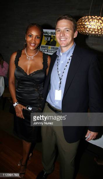 Vivica Fox and Tony Rogers during ABFF and Walmart VIP Reception July 22 2006 at Santo Restaurant in Miami Florida United States