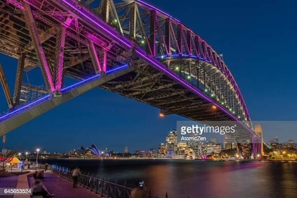 Vivid bridge of Sydney