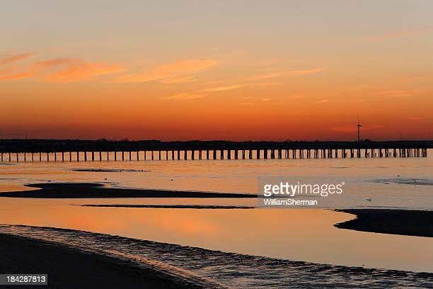 Vivid Cape Henlopen Delaware Sunset