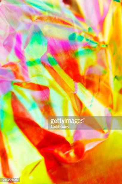 Vivid colors reflected in holographic foil