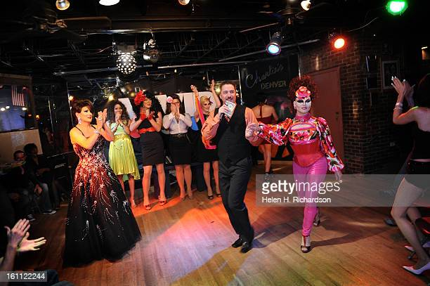 Vivid impresario Michael Vrooman flanked by his two Ninas legendary Nina Montaldo left and supernova Nina Flowers right Nationally known Nina Flowers...