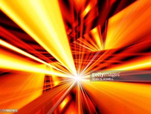 vivid orange abstract streaks - zoom background stock pictures, royalty-free photos & images