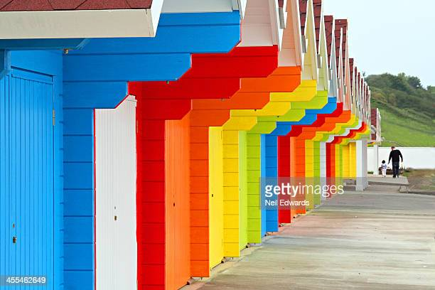 CONTENT] Vivid painted beach huts Scarborough UK