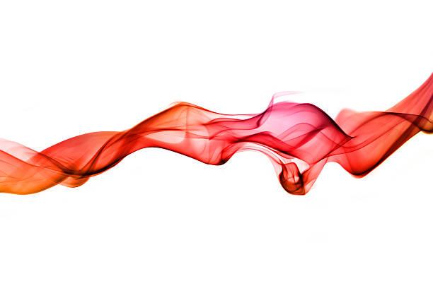 Vivid red undulating smoke