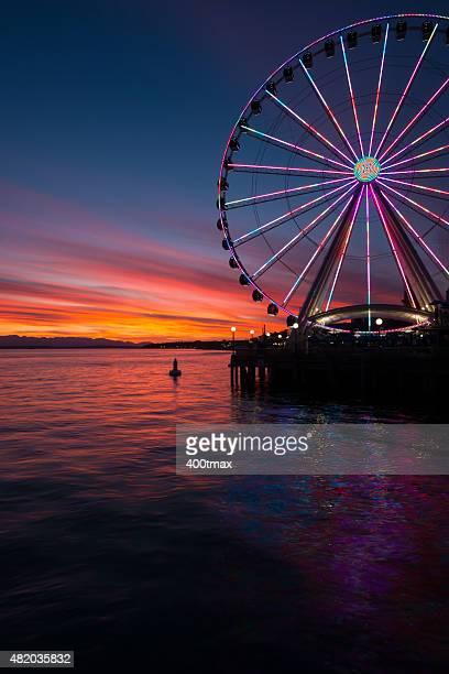 Vivid Sunset of Elliott Bay