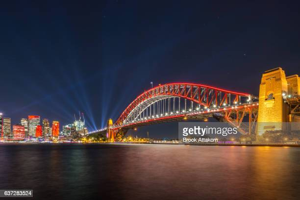 Vivid Sydney Harbou Bridge