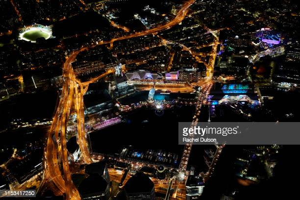 vivid sydney - darling harbour stock pictures, royalty-free photos & images