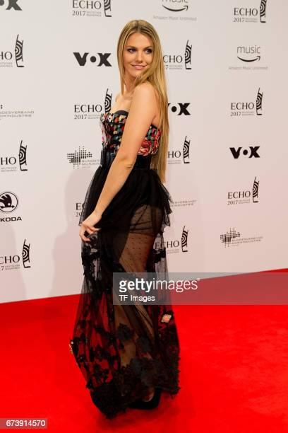 Vivien Gebhardt on the red carpet during the ECHO German Music Award in Berlin Germany on April 06 2017