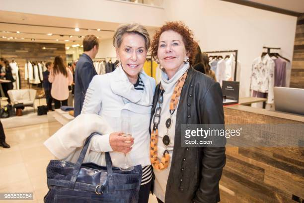Vivien Hassenfeld left and Sheryl Marshall at Max Mara's Newbury St location as it celebrates Boston ICA's Watershed Gala on May 1 2018 in Boston...