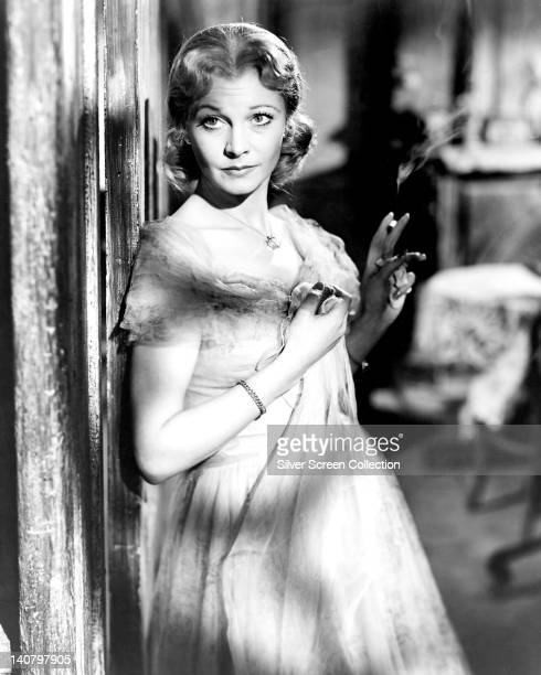 Vivien Leigh , British actress, holding a lit cigarette in a publicity still issued for the film, 'A Streetcar Named Desire', 1951. The drama,...