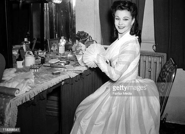 Vivien Leigh in her dressing room on the opening night of 'School for Scandal' at the Tivoli Theatre 29 June 1948