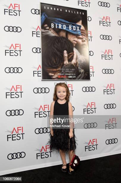 Vivien Lyra Blair attends the gala screening of Bird Box during AFI FEST 2018 on November 5 2018 in Los Angeles California