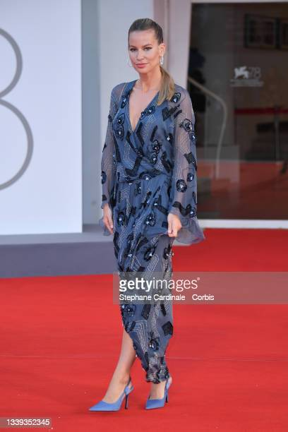 """Vivien Mádai attends the red carpet of the movie """"America Latina"""" during the 78th Venice International Film Festival on September 09, 2021 in Venice,..."""