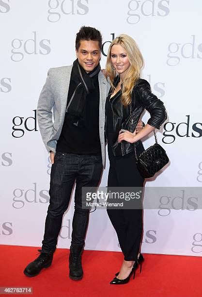 Vivien Wulf and Christopher Schnell attend the GDS Grand Opening Party on February 4 2015 in Duesseldorf Germany