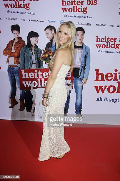 Vivien Wulf attends the 'Heiter Bis Wolkig' Germany Premiere at Cinedome on MediaPark on August 21 2012 in Cologne Germany