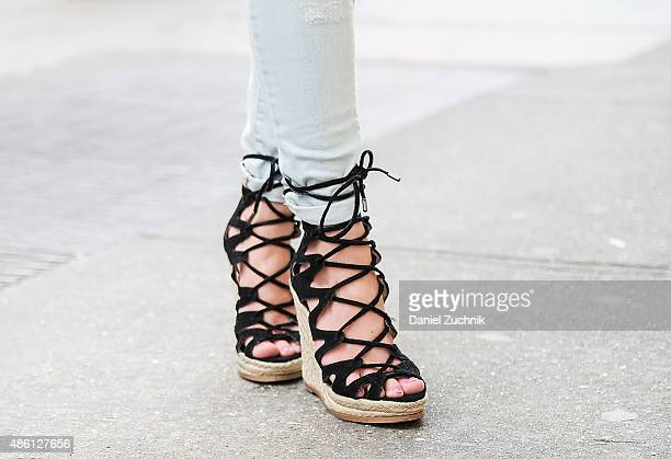 Vivienne is seen in Soho wearing Steve Madden wedges on August 31 2015 in New York City
