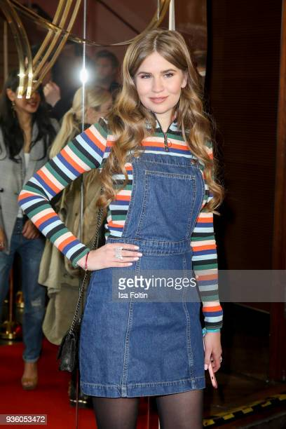 Vivienne Maria Rojinski sister of German presenter model and actress Palina Rojinski during the 'Jerks' premiere at Zoo Palast on March 21 2018 in...