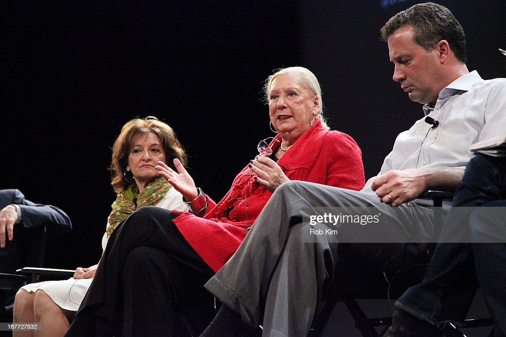 Vivienne Roumani, Jane Friedman, Anthony W. Marx attend Tribeca Talks After The Movie: 'Out Of Print' during the 2013 Tribeca Film Festival on April 28, 2013 in New York City.