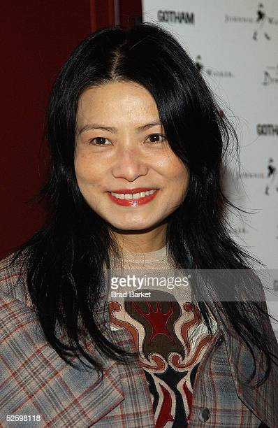 Vivienne Tam arrives to the Johnnie Walker Presents Dressed to Kilt fashion show at the Copacabana on April 6 2005 in New York