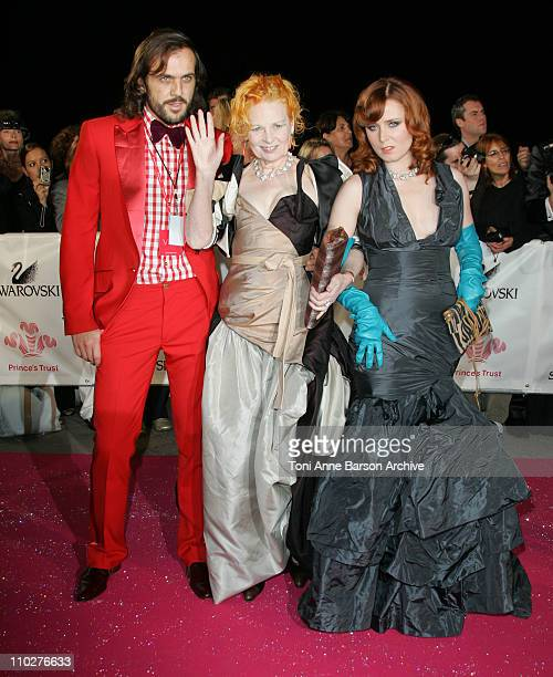 Vivienne Westwood and guests during Swarovski Fashion Rocks for the Prince's Trust Red Carpet Arrivals at Forum Grimaldi in Monte Carlo Monaco