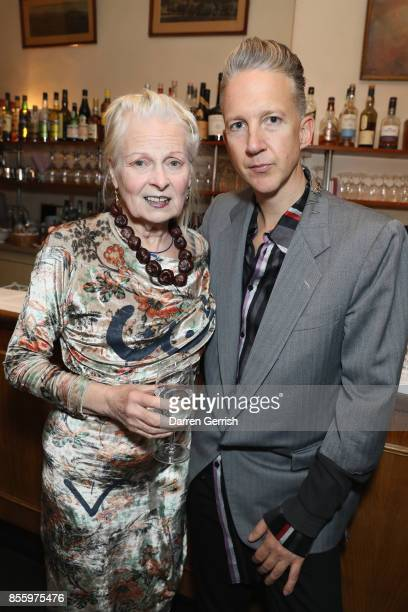 Vivienne Westwood and Jefferson Hack attend a dinner in Paris to celebrate Another Magazine A/W17 hosted by Vivienne Westwood Andreas Kronthaler...