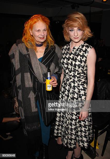 Vivienne Westwood and Nicola Roberts attend the Anglomania show by Vivienne Westwood at Selfridges on November 16 2009 in London England