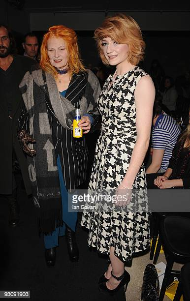 Vivienne Westwood and Nicola Roberts attend Westwood's Anglomania Spring / Summer 2010 Ccatwalk Show at Selfridge's on November 16 2009 in London...