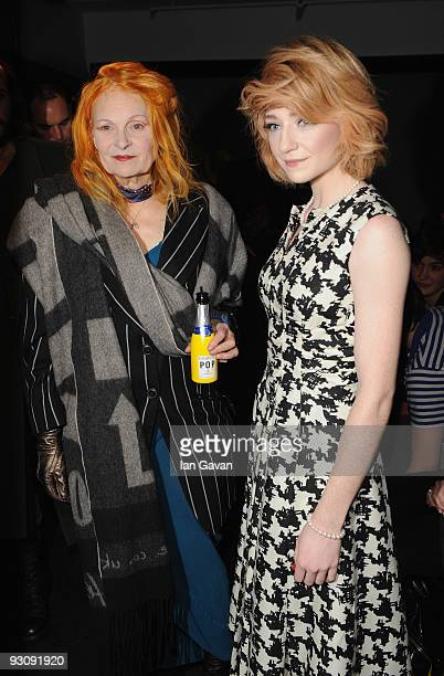 Vivienne Westwood and Nicola Roberts of Girls Aloud attend Westwood's Anglomania Spring / Summer 2010 Catwalk show at Selfridge's on November 16 2009...